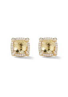 David Yurman 18kt yellow gold Châtelaine citrine and diamond stud earrings