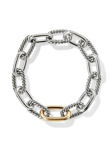 David Yurman 18kt yellow gold detail DY Madison medium bracelet