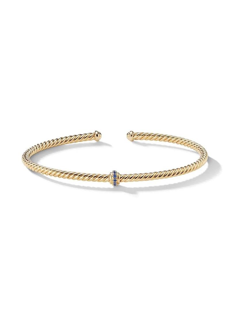 David Yurman 18kt yellow gold Renaissance Center Station sapphire bracelet