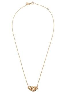 David Yurman 18kt yellow gold Stax diamond rondelle pendant necklace