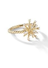 David Yurman 18kt yellow gold Supernova diamond 14mm ring