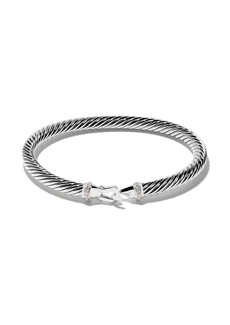 David Yurman sterling silver Cable Collectibles diamond buckle bracelet