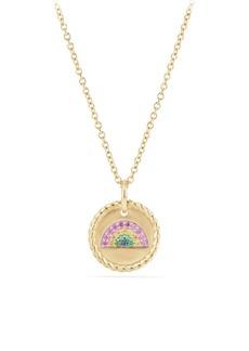 David Yurman Cable Collectibles Rainbow Pendant Necklace