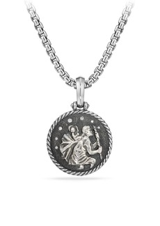 David Yurman Cable Collectibles St.Christopher Sterling Silver & Diamond Amulet