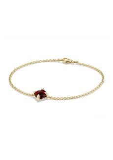 David Yurman Châtelaine Bracelet with Garnet and Diamonds in 18K Gold