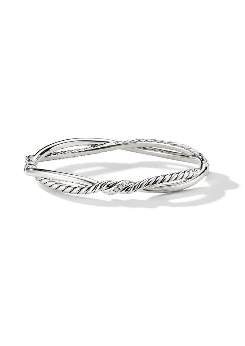 David Yurman sterling silver Continuance Small Station diamond bracelet