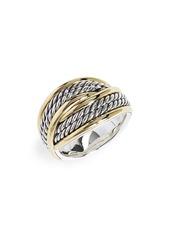 David Yurman 18K Gold Origami Ring