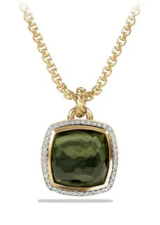 David Yurman 'Albion' Pendant with Lemon Citrine and Diamonds in Gold