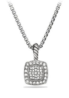 David Yurman 'Albion' Petite Pendant with Diamonds on Chain