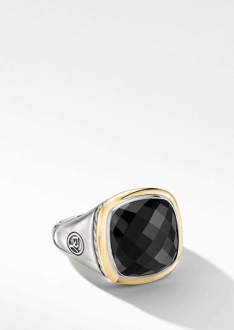 David Yurman Albion Ring with 18K Gold and Semiprecious Stone