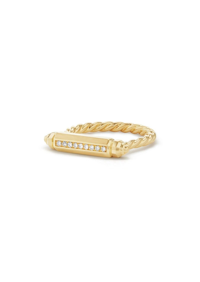 David Yurman Barrels Ring with Diamonds in 18K Gold in Yellow Gold at Nordstrom
