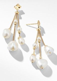 David Yurman Bijoux Bead Link Drop Earrings in 18K Gold