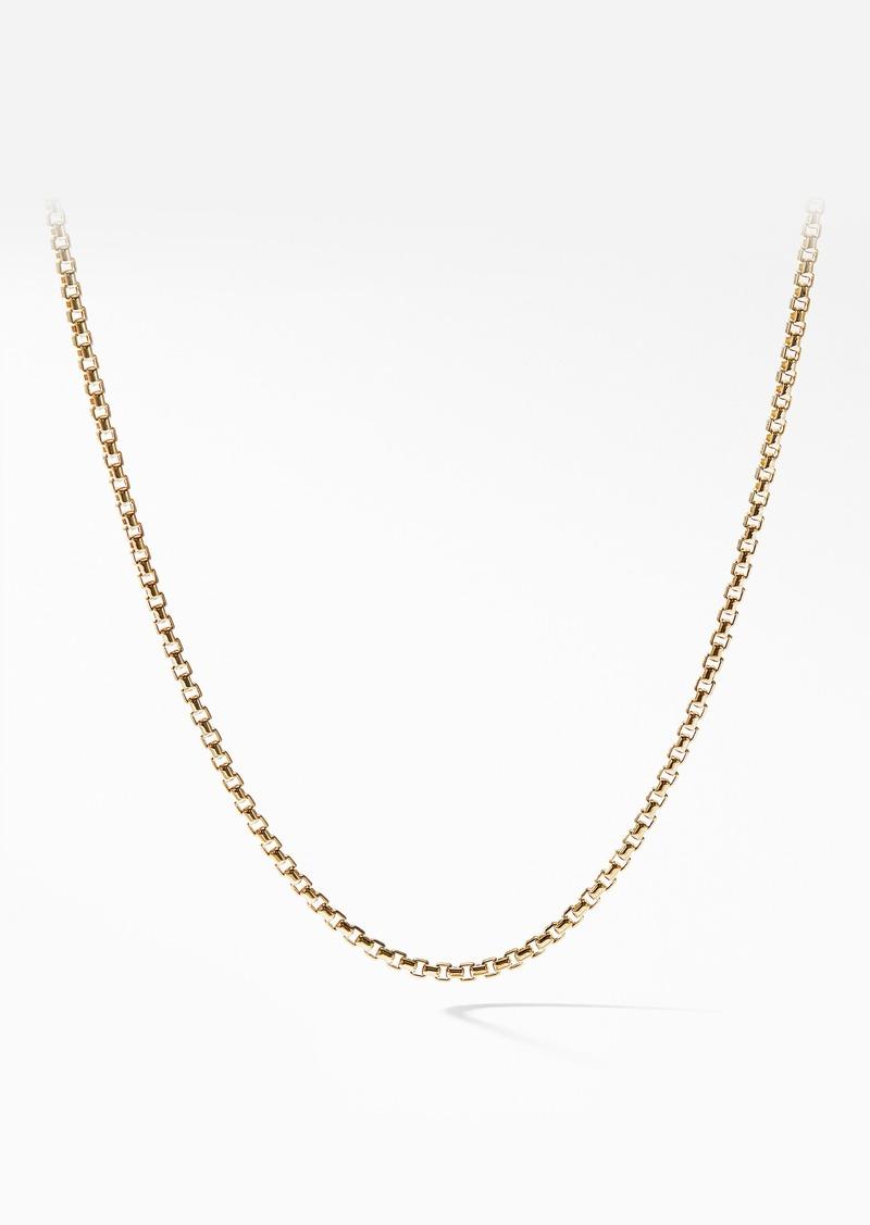 David Yurman Box Chain 18K Gold Necklace