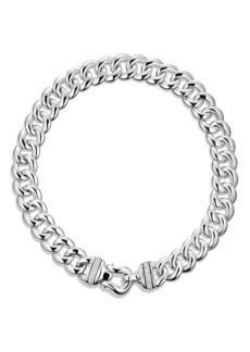 David Yurman 'Buckle' Chain Necklace with Diamonds