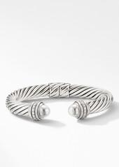 David Yurman Cable Bracelet with Diamonds, 9mm