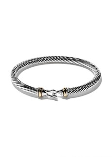 David Yurman sterling silver and 18kt yellow gold Cable bracelet