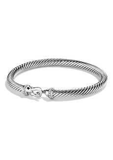 David Yurman Cable Buckle Bracelet with Diamonds, 5mm