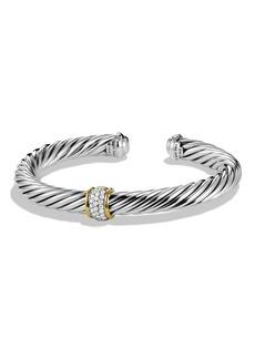 David Yurman Cable Classics Bracelet with Diamonds & 18K Gold, 7mm