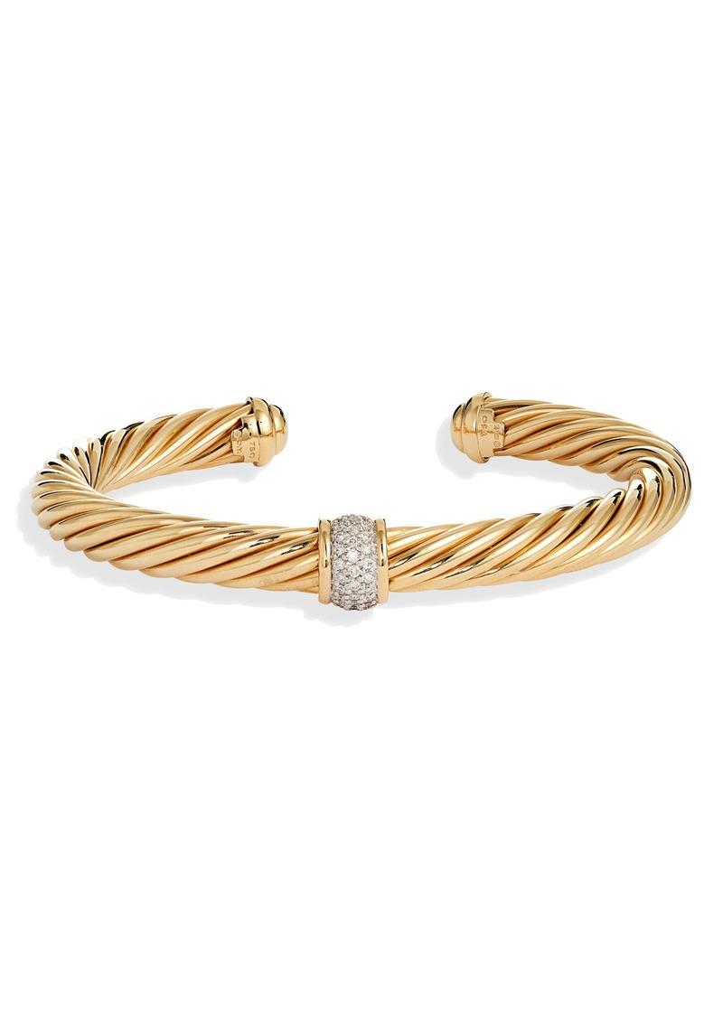 David Yurman 'Cable Classics' Bracelet with Diamonds in Gold