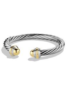 David Yurman Cable Classics Bracelet with 14K Gold, 7mm