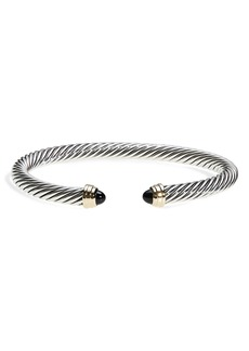 David Yurman Cable Classics Bracelet with Semiprecious Stones & 14K Gold, 5mm