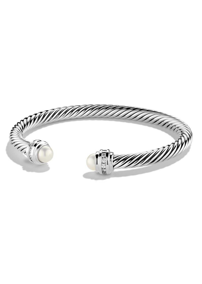 David Yurman Cable Classics Bracelet with Semiprecious Stones & Diamonds