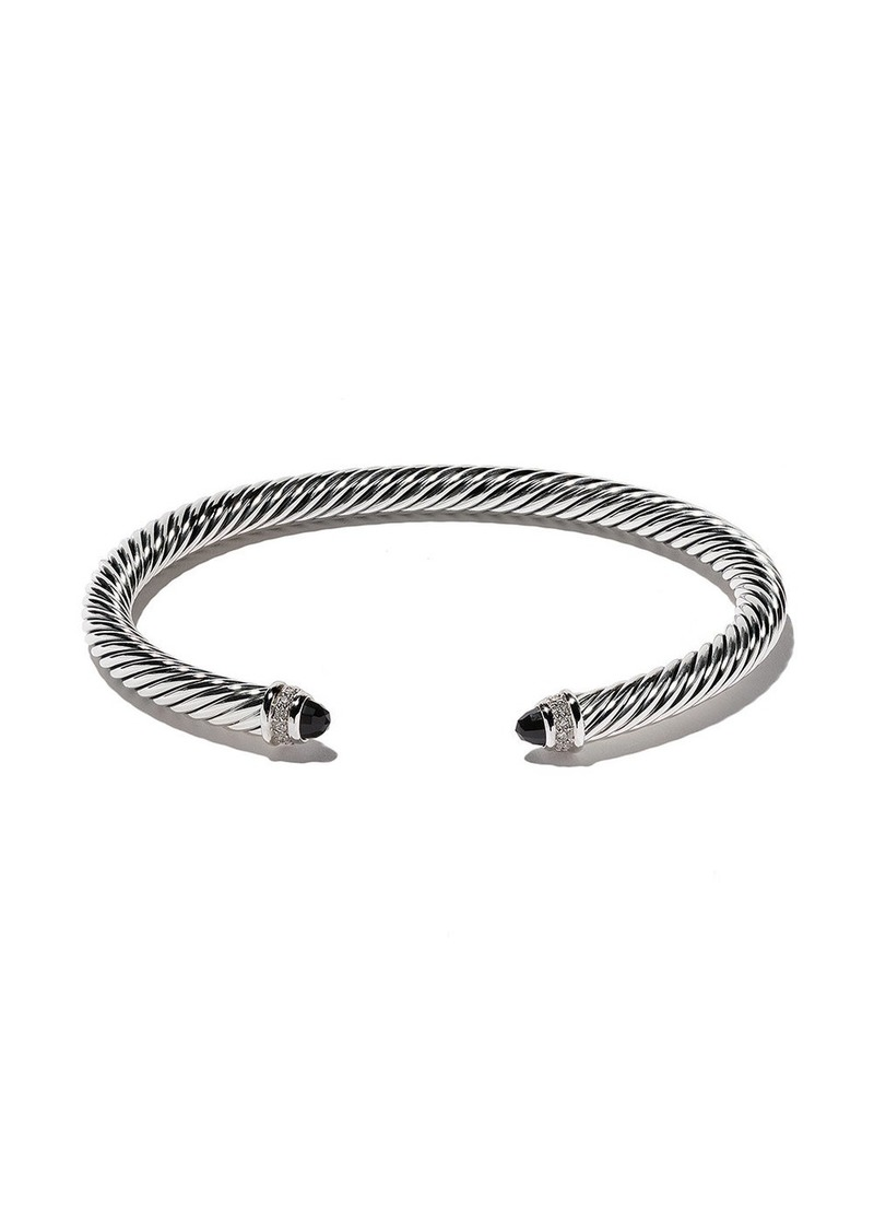 David Yurman Cable Classics onyx and diamond cuff bracelet