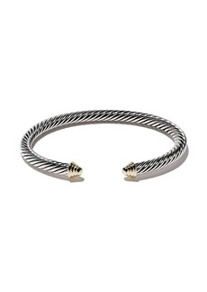 David Yurman Cable Classics sterling silver & 14kt yellow gold accented cuff bracelet