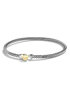 David Yurman Cable Collectibles Heart Bracelet with 18K Gold