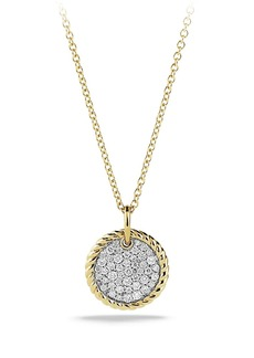 David Yurman Cable Collectibles Pavé Charm with Diamonds in Gold
