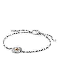 David Yurman 'Cable Collectibles' Star of David Station Bracelet with Diamonds