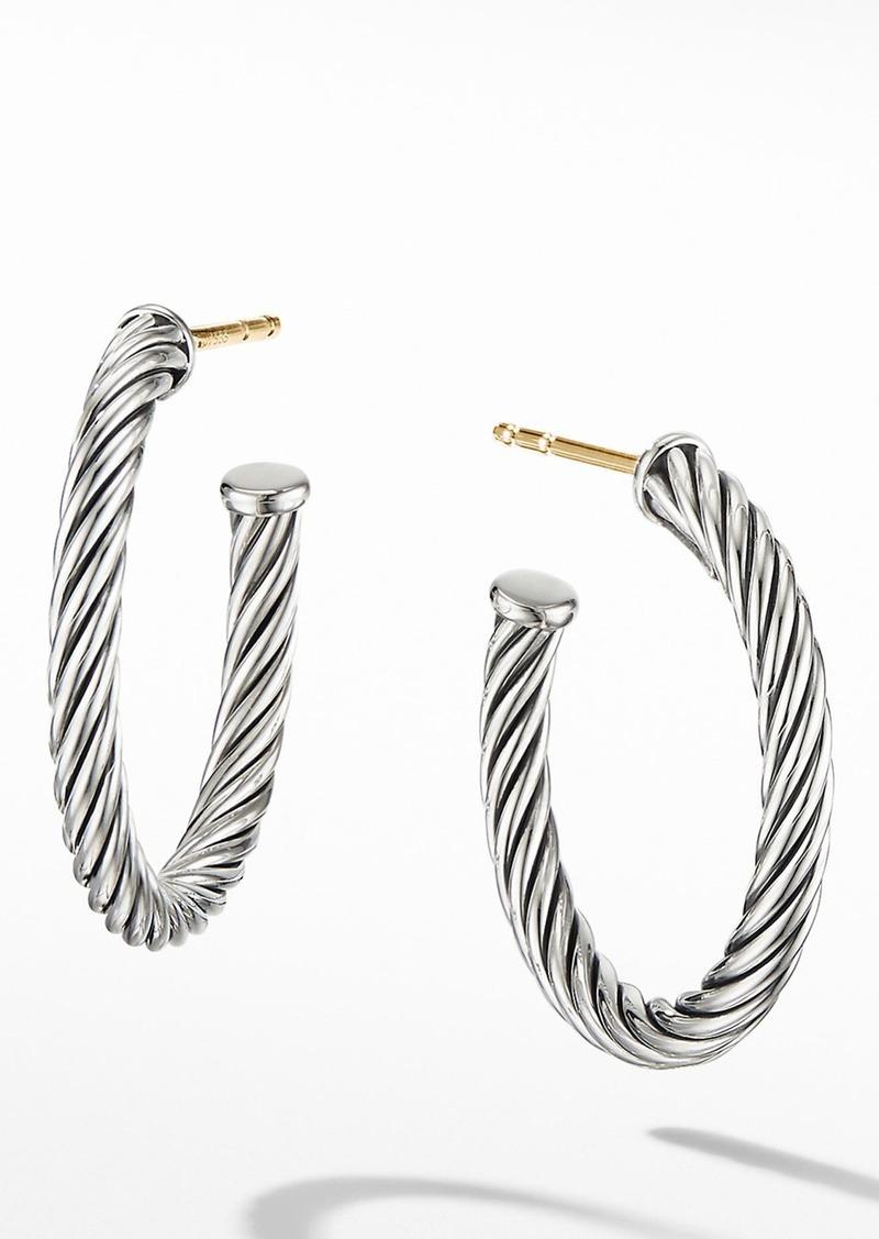 David Yurman Cable Hoop Earrings in Silver at Nordstrom