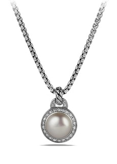 David Yurman Albion Petite Cerise Pendant Necklace with Pearl and Diamonds