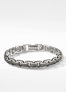 David Yurman Chain Link Bracelet with Pavé Black Diamonds
