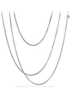 David Yurman 'Chain' Medium Box Chain with Gold