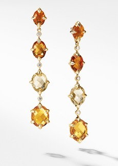 David Yurman Chatelaine® 18k Gold Drop Earrings with Diamonds