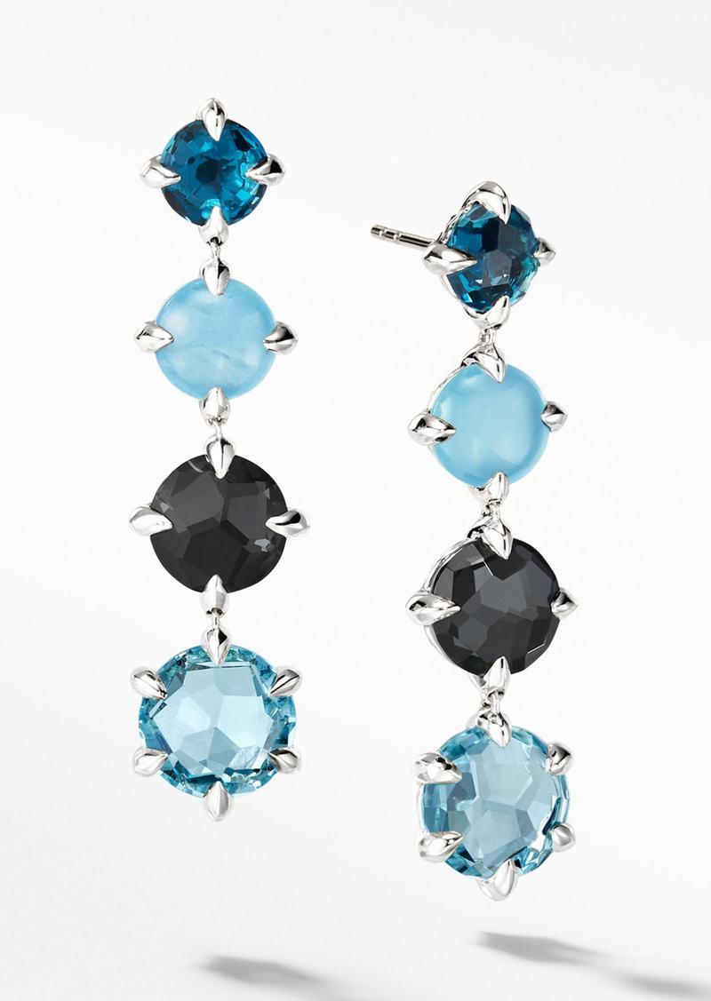 David Yurman Chatelaine® Drop Earrings with Blue Topaz