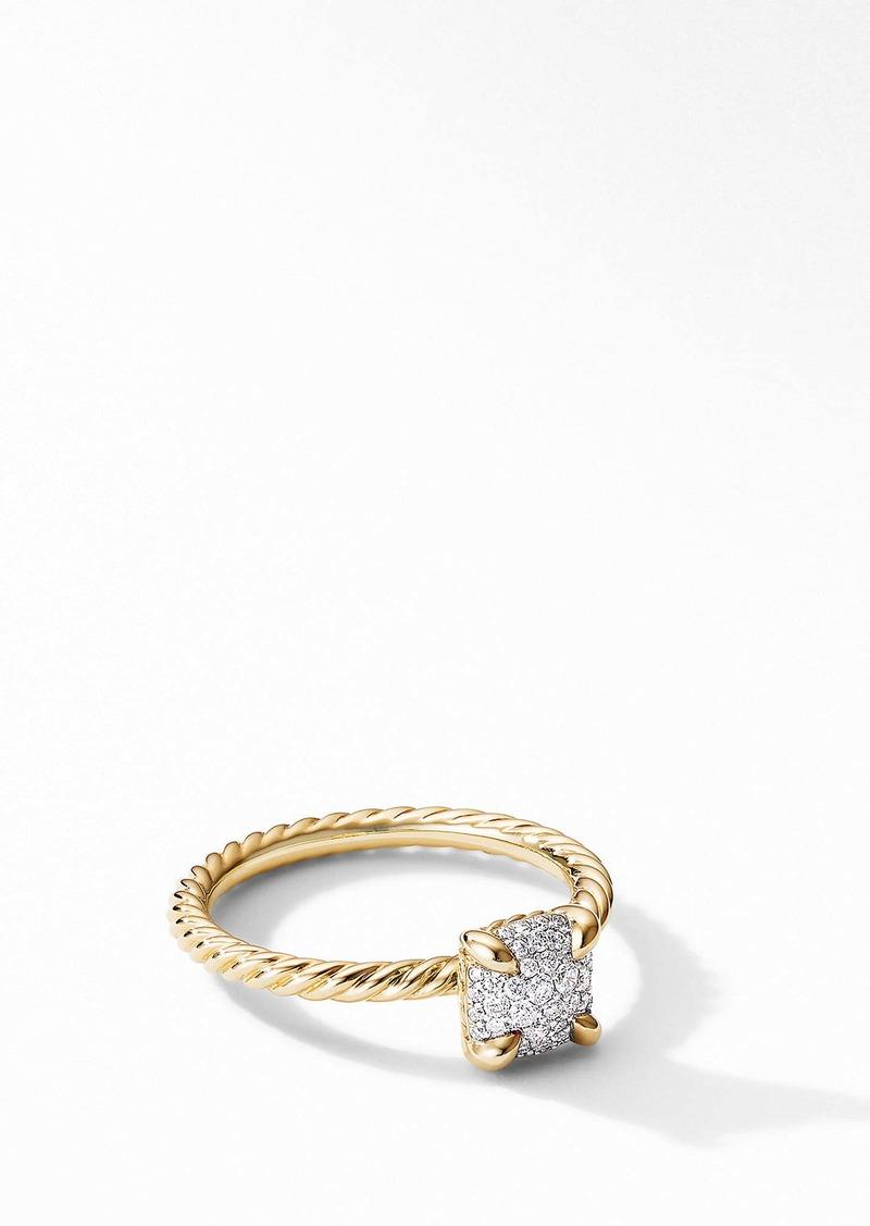 David Yurman Chatelaine® Ring in 18K Gold with Pavé Diamonds