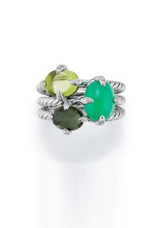 David Yurman Chatelaine® Three-Gemstone Diamond Ring