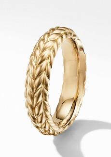 David Yurman Chevron 18K Gold Band Ring