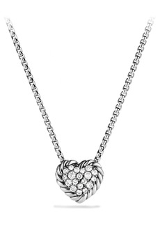 David Yurman 'Châtelaine' Heart Pendant Necklace with Diamonds