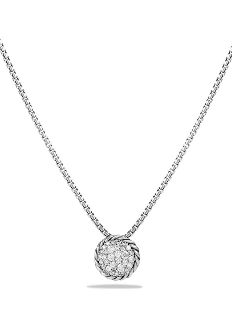 David Yurman 'Châtelaine' Pavé Pendant Necklace with Black Diamonds