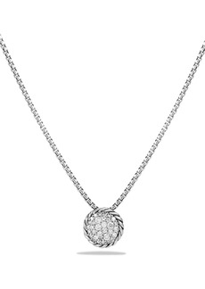 David Yurman 'Châtelaine' Pavé Pendant Necklace with Black Diamonds