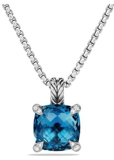 David Yurman Châtelaine Pendant Necklace with Semiprecious Stone & Diamonds