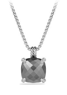 David Yurman 'Châtelaine' Pendant Necklace with Semiprecious Stone and Diamonds