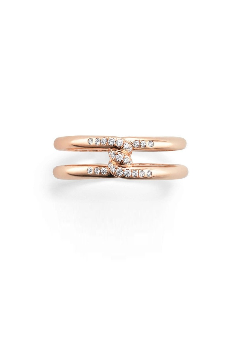 David Yurman Continuance Band Ring with Diamonds in 18k Gold