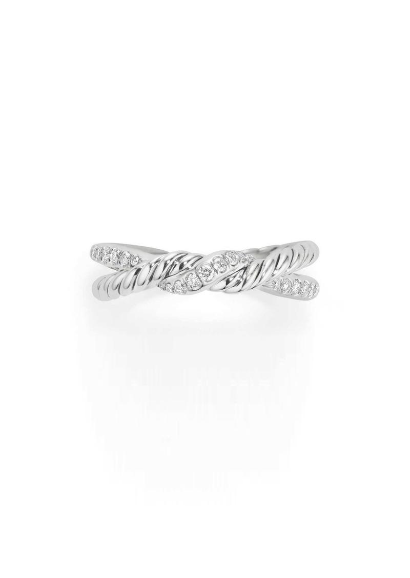David Yurman Continuance Twist Ring with Diamonds