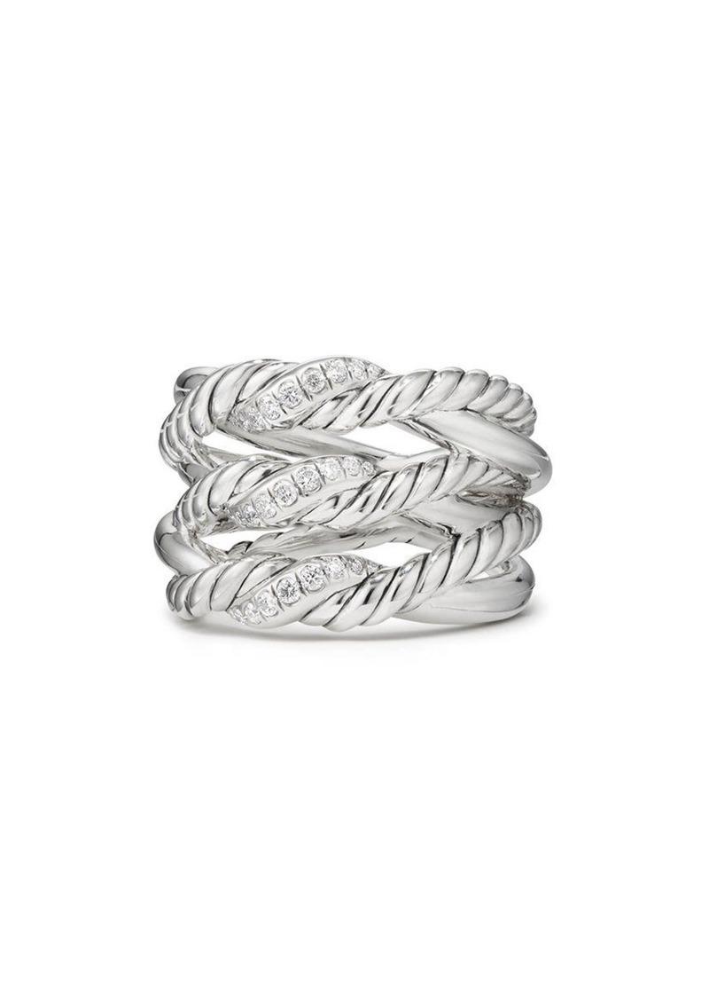 David Yurman Continuance(R) 3-Row Ring with Diamonds