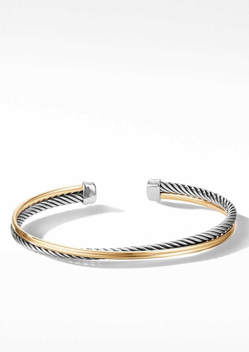 David Yurman Crossover Bracelet with 18K Gold