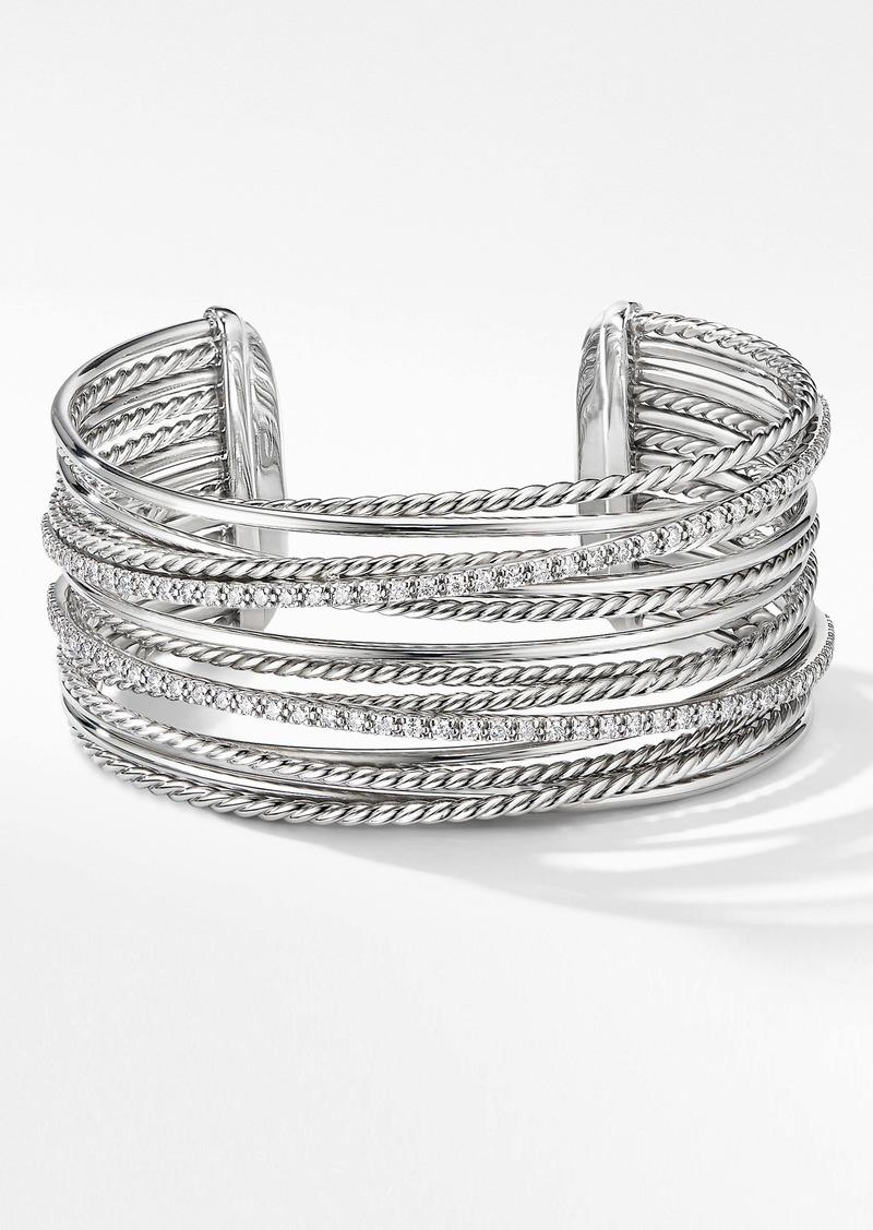 David Yurman Crossover Cuff Bracelet with Diamonds